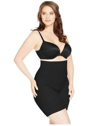 Miraclesuit | Black Plus Shapewear Firm Control Fit High Waist Thigh Slimmer 2928 | Lyst