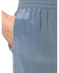 La Perla | Blue Silk Pajama Pants | Lyst