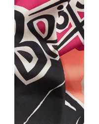 Burberry Brit - Multicolor Insects Of Britain Print Silk Slim Scarf - Lyst