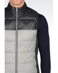 Armani Jeans   Gray Down Gilet In Technical Fabric for Men   Lyst
