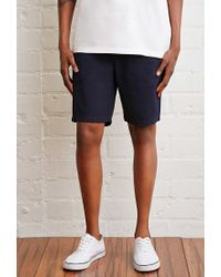 Forever 21 | Blue School Uniform Chino Shorts for Men | Lyst