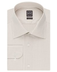 Ike Behar | Natural Micro Check Dress Shirt for Men | Lyst