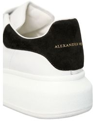 Alexander McQueen - White 40mm Strap Leather & Suede Sneakers - Lyst