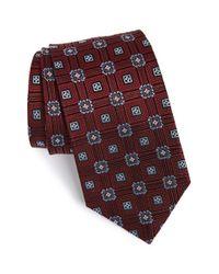 JZ Richards | Brown Geometric Medallion Woven Silk Tie for Men | Lyst