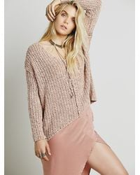Free People   Natural Womens Dreamweaver Pullover   Lyst