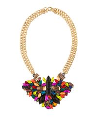 Maiocci Collection | Metallic Maurra Multicolour Hand Made Necklace | Lyst