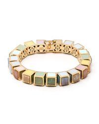 Eddie Borgo | Metallic Multi-stone Cube Bracelet | Lyst