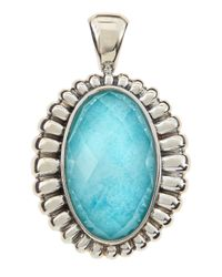 Lagos   Green Venus Fluted Crystal & Turquoise Doublet Pendant   Lyst