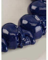 Alexander McQueen - Blue Skull Bead Bracelet for Men - Lyst
