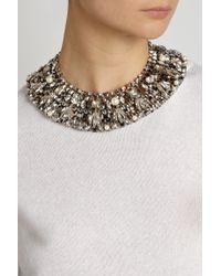 Vickisarge - Metallic Speakeasy Palladiumplated Swarovski Crystal and Faux Pearl Collar Necklace - Lyst