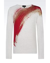 Emporio Armani - Gray Jumper In Virgin Wool for Men - Lyst