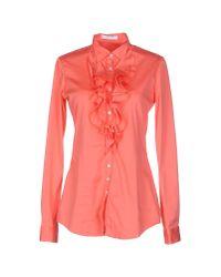 Aglini - Pink Shirt - Lyst