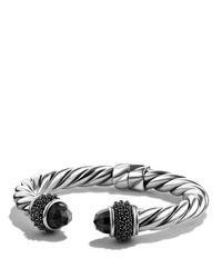 David Yurman | Metallic Osetra Bracelet With Black Onyx | Lyst