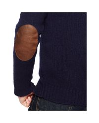 Polo Ralph Lauren | Blue Wool-angora Shawl Sweater for Men | Lyst