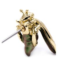 Alexis Bittar | Metallic Iridescent Bee Stud Earrings | Lyst
