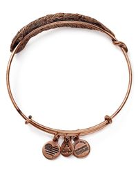 ALEX AND ANI | Pink Plume Rose Gold Tone Wire Bangle - 100% Bloomingdale's Exclusive | Lyst