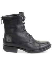 Born | Black Kelisa Lace-up Boots | Lyst