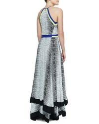 Parker - Black Aurora Colorblocked Komodo-print Dress - Lyst