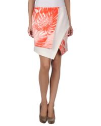 Lala Berlin - Orange Mini Skirt - Lyst