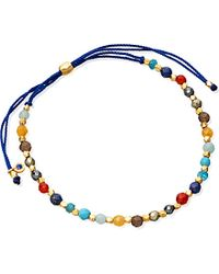 Astley Clarke | Rainbow 18ct Yellow Gold-plated And Gemstone Skinny Biography Bracelet | Lyst