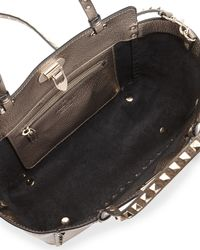 Valentino - Rockstud Metallic Small Tote Bag - Lyst