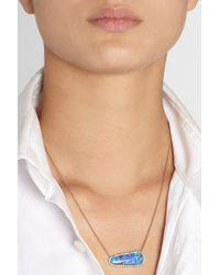 Kimberly Mcdonald - Blue 18karat Rose Gold Boulder Opal and Diamond Necklace - Lyst