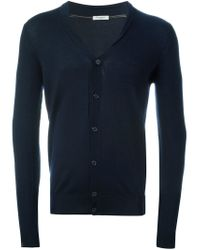 Paolo Pecora - Blue V-neck Cardigan for Men - Lyst
