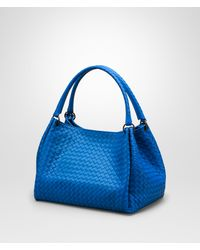 Bottega Veneta Signal Blue Intrecciato Nappa Parachute Bag in Blue ... e316e2e1f25b9