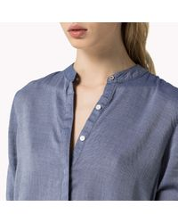 Tommy Hilfiger | Blue Cotton Viscose Blouse | Lyst