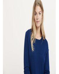 Violeta by Mango - Blue Essential Sweater - Lyst