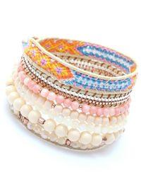 Nakamol - Multicolor Sagaciousness Wrap Bracelet-peach - Lyst