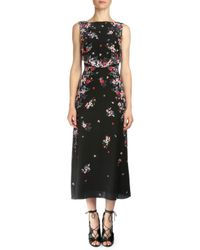 Erdem - Multicolor Juno Gloria Garden Silk Midi Dress - Lyst