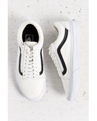 Vans | Black Leather Old School Zip Sneaker | Lyst