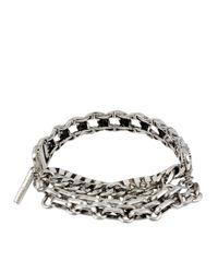 Kenneth Cole - Metallic Silver Tone Multi Chain Bracelet for Men - Lyst