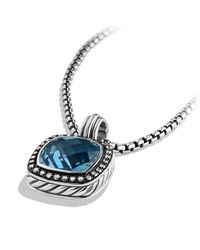 David Yurman - Blue Albion Pendant With Diamonds And Darkened Silver, 14Mm Gemstone - Lyst