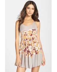 Free People Gray Voile Slip