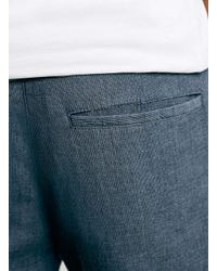 TOPMAN - Blue Navy Cropped Skinny Chinos for Men - Lyst