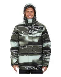 Quiksilver | Green Mission Printed Snow Jacket for Men | Lyst