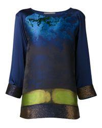 Alberta Ferretti - Blue Night Sky Jacquard Tunic - Lyst