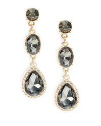 Cara | Metallic Faceted Drop Earrings | Lyst