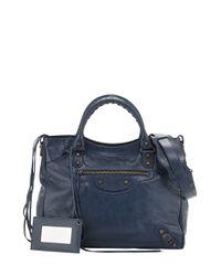Balenciaga - Blue Classic Velo Crossbody Bag - Lyst