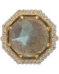 Jamie Wolf | Metallic Gold Labradorite And Diamond Octagon Ring | Lyst