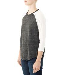 Alternative Apparel | Black Baseball Eco-jersey Raglan T-shirt | Lyst
