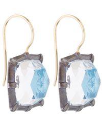 Larkspur & Hawk - Light Blue Silver Quartz Bella One Drop Earrings - Lyst