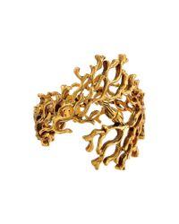 Oscar de la Renta | Metallic Coral-Branch Bracelet | Lyst
