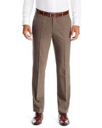 BOSS - Natural 'sharp' | Regular Fit, Stretch Virgin Wool Dress Pants for Men - Lyst