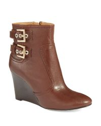 Nine West | Brown Herbert Wedge Boots | Lyst