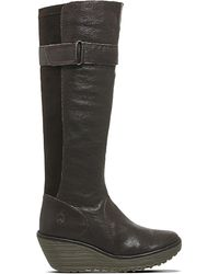 Fly London | Brown Yash Leather Knee-high Boots | Lyst