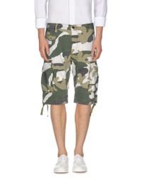 DIESEL | Green Bermuda Shorts for Men | Lyst