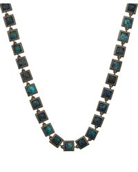 Nak Armstrong | Metallic Sterling Silver Chrysocolla Mosaic Necklace | Lyst